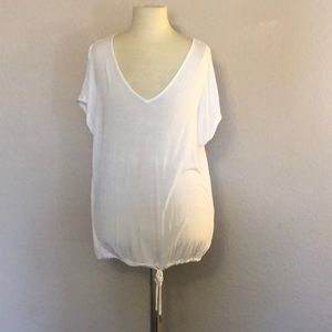 Armani Exchange - White Tee Shirt Top ((Size XXS))